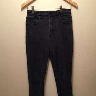 "A Brand ""Vintage"" wash High Waist Skinny Jeans"
