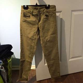 Khaki AE Jeggings