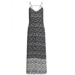 BARDOT Long Maxi Dress Split Singlet Straps Full Length Black White Print size 6