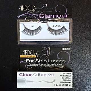 NEW False Eyelashes + Glue
