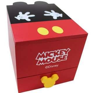 正版迪士尼授權 木製上掀抽屜收納盒 [米奇|米妮]