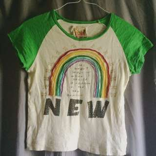 NEW London ~ Cute ~ Rainbow T-Shirt