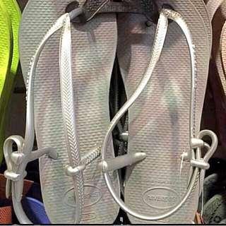 巴西涼鞋 銀色正品 25號