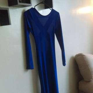 Blue Floor Length Gown