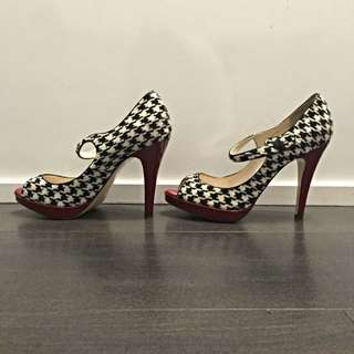 Steven Houndstooth Mary Jane Pumps