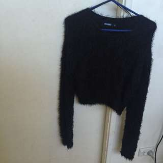 Missguided Fluffy Black Jumper ONLY $5 MUST GO
