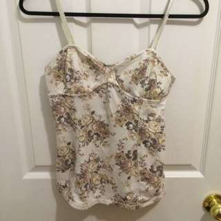 Talula Floral Bustier Top