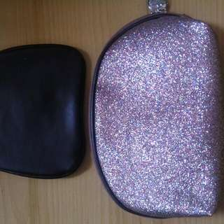 Glittery 2 In 1 MakeUp Pouch