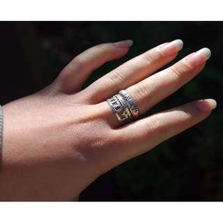 VINTAGE Sterling Silver Rings - PAIR