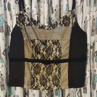 Size 14 Zip Up Caroline Morgan Lace Top