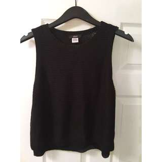 XS Mendocino Knit Black Tank Top