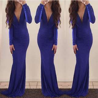 Blue Maxi Dress - Size Small