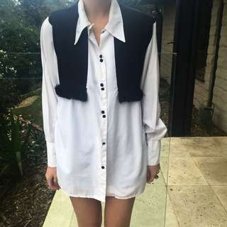 White/ Black Oversized Shirt