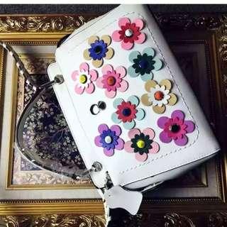 Fendi ROMA handbag with logo flower design women shoulder bag 4 colors for girl new style handbag
