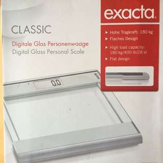 Digital Weight Scale - Exacta Digital Glass Personal Scale