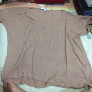 Forever 21 Brown Tshirt