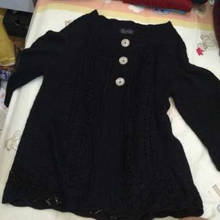 Black Brokade Cardigan