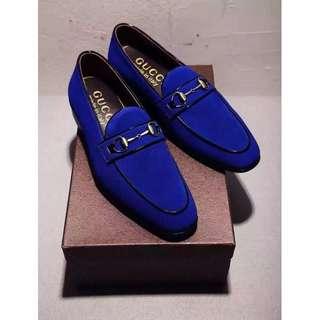 Gucci leather shoes for women & men Horsebit Suede 3 colors Mercerized cow suede leather shoes