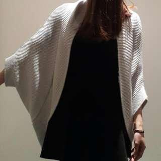 Zara Plain Bat Sleeves Cardigan