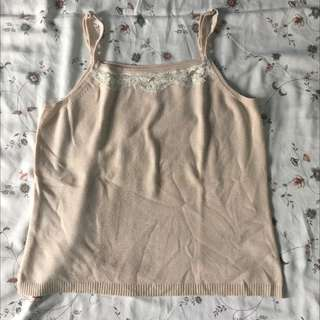 Sleeveless Nude Color