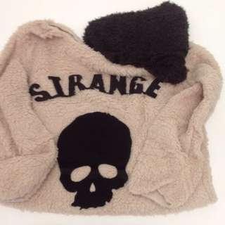 Fluffy Skull Sweater + Scarf