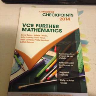VCE Further Mathematics Checkpoints