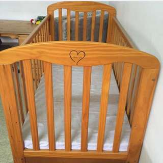 Pine Wood Baby Cot