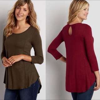 Maurices 7/8 Sleeve Blouse