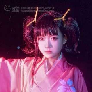 Wig Ghostcos Mumei Koutetsujou No Kabaneri Clip On