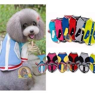 全新轉賣 寵物衣服 棒球外套 深藍 xxl