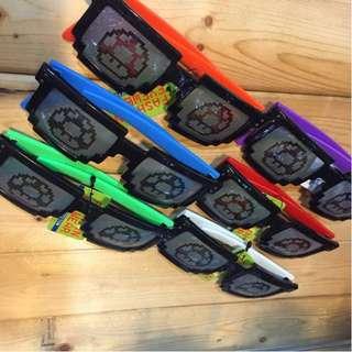 瑪莉歐 奇諾比奧 蘑菇圖案 造型眼鏡 太陽眼鏡 派對/趣味/造型 抗UV400 共6種顏色