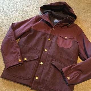 Topman Burgundy Jacket Size S