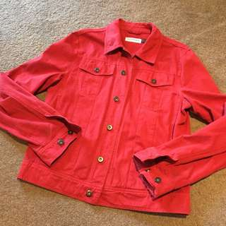Topman Red Jacket Size M
