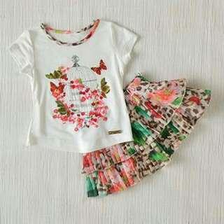FURTHER DISCOUNT FOR THE MONTH! Kidswear - Girls' 2pcs Dress Set (12M, 18M, 24M & 36M)