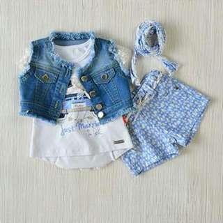 Kidswear - Girls 5pcs Set (12M, 18M, 24M & 36M)