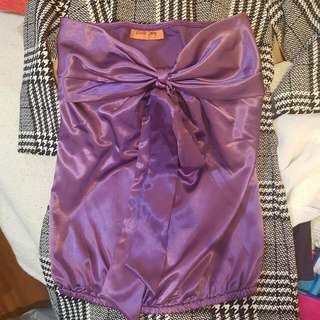 Piper Lane Purple Bow Tube Top  Size S AUD7