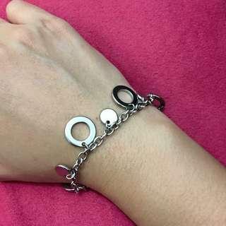 Stainless steel bracelet - circles