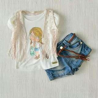 Kidswear - Girls' 4pcs Outfit (12M, 18M, 24M & 36M) UP $89