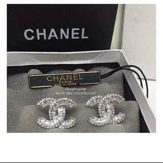 CHANEL SWAROVSKI DIAMOND EARRINGS