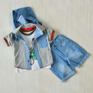 FURTHER DISCOUNT FOR THE MONTH! Kidswear - Boys 3pcs Set (12M, 18M, 24M, 36M) UP $99