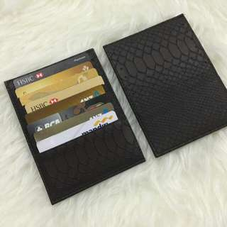 Card Holder 16 Slot Snake Skin