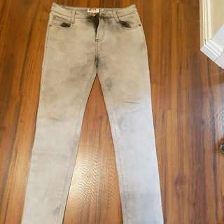 Cotton On Grey Washed Jeans Size 6-10 AUD12