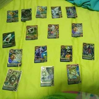 Animal Kaiser 3 Slivers and 13 Bronze Cards