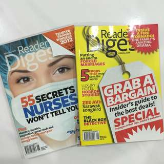 Reader's Digest Magazines (May & June 2012)