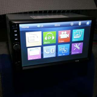 "7"" TFT Touchscreen Car Entertainment Player With USB SD Card & AUX In (2Din Type)(BNIB)"
