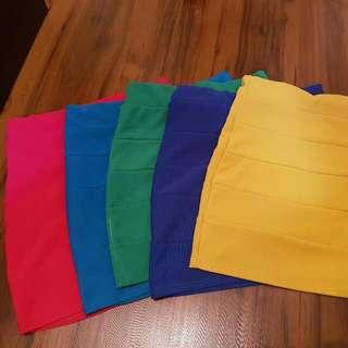 Mini Skirts - Various Colours Size XS-S AUD6