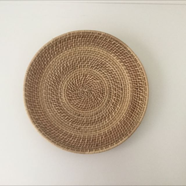 2 X Large Wicker Platters