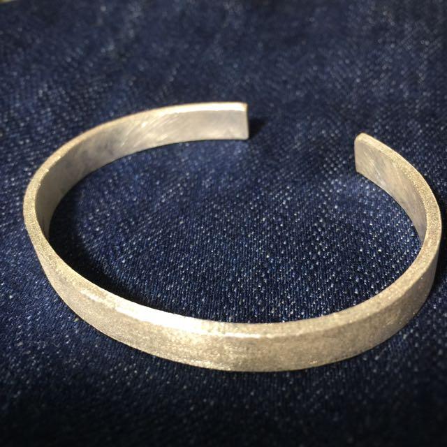 《手做設計》純銀霧面寬版手環