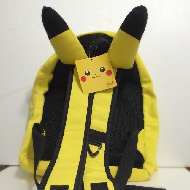 聖誕 禮物 全新✨日本 皮卡丘 神奇寶貝中心 耳朵 雙肩 背包 Pokemon 寶可夢 Pikachu