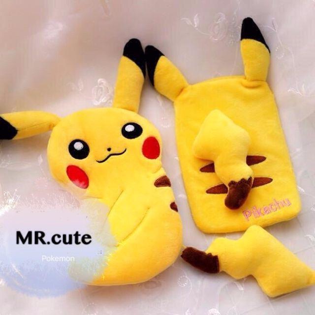 經典不敗 神奇寶貝 口袋怪獸 Pokemon 寶可夢 皮卡丘 立體 手機袋 手機包 隨身收納包